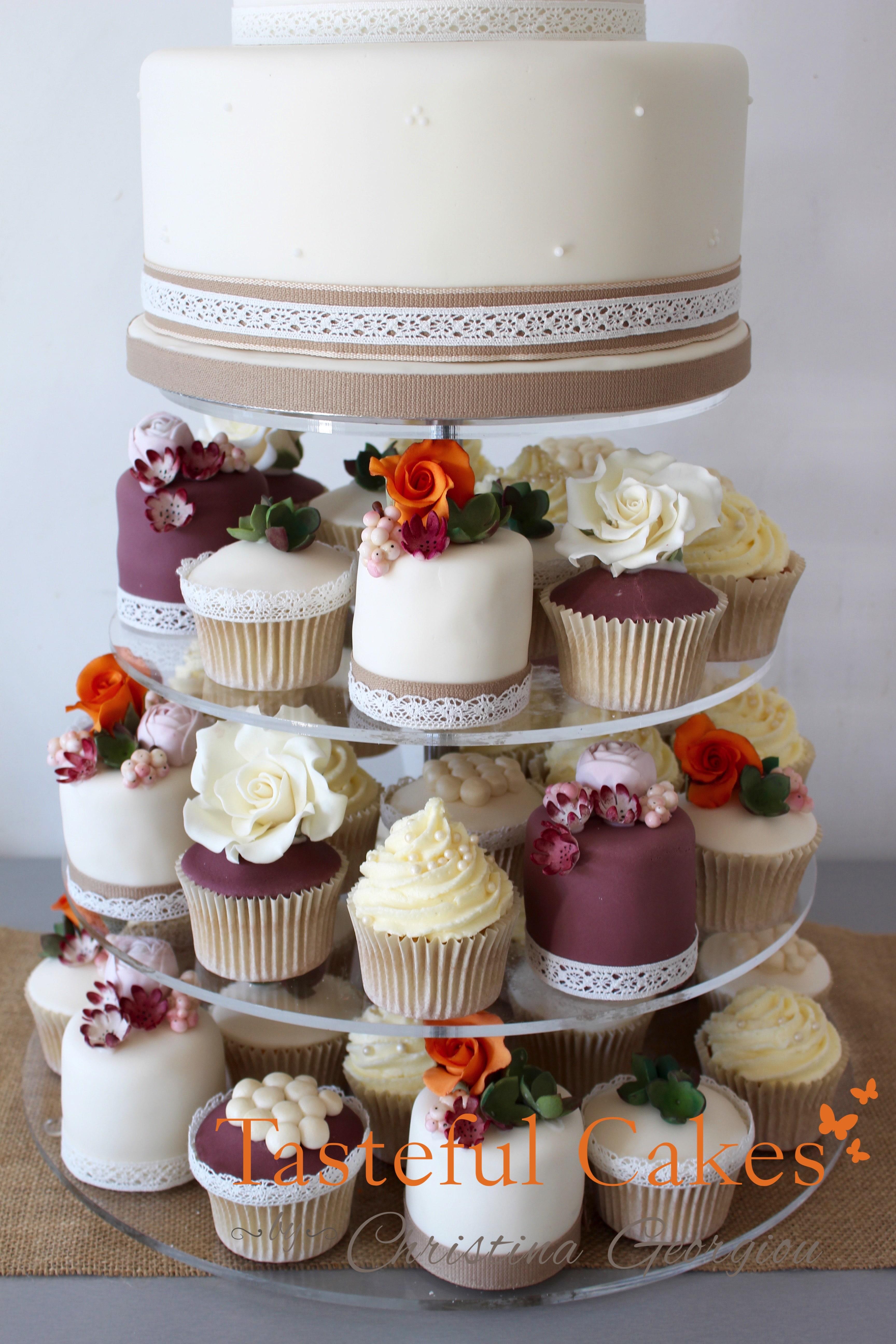 Tasteful Cakes By Christina Georgiou Autumal Wedding