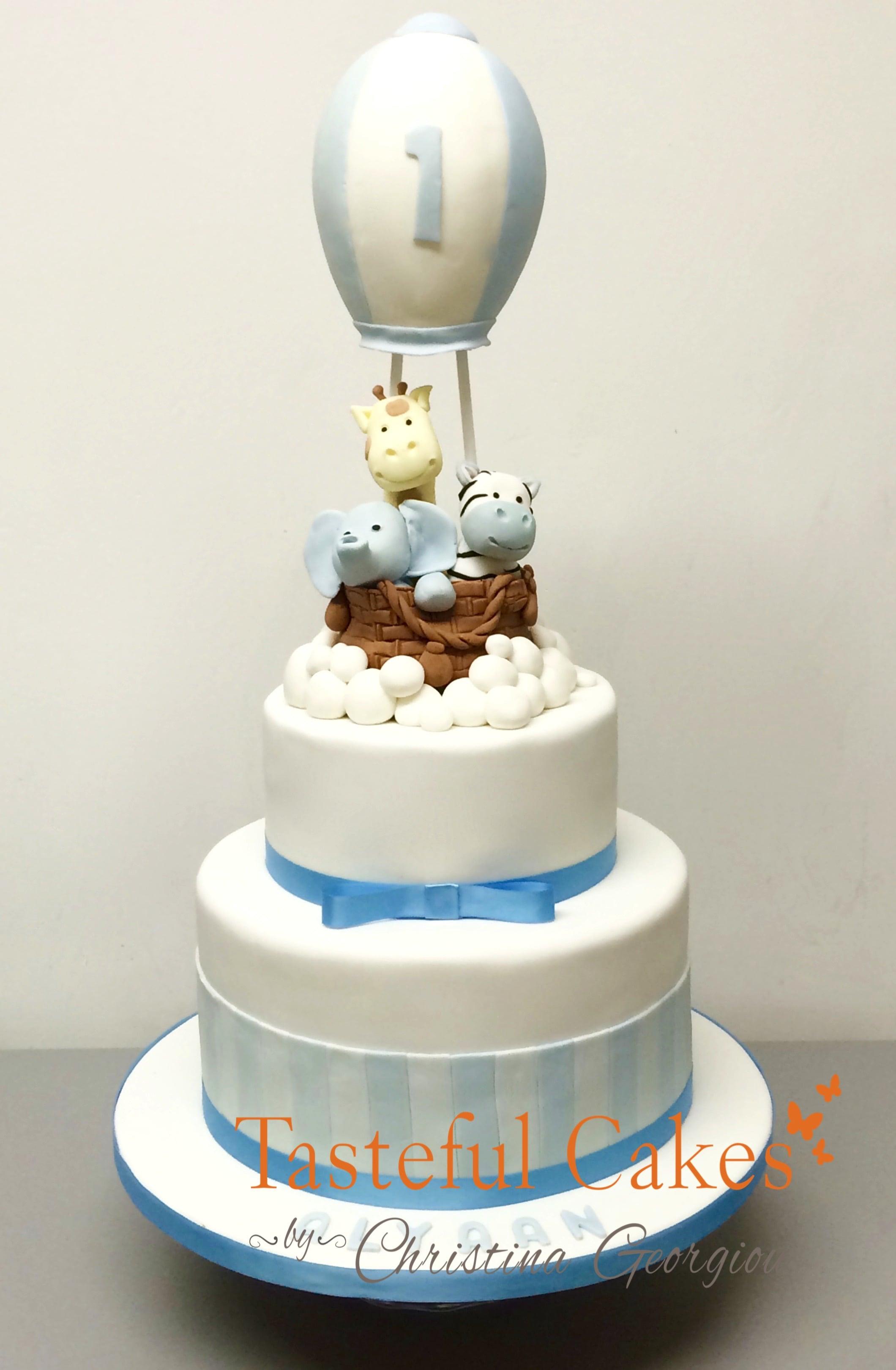 Hot air ballon christening cake 1 bristol bakery birthday cakes 6 on bristol bakery birthday cakes