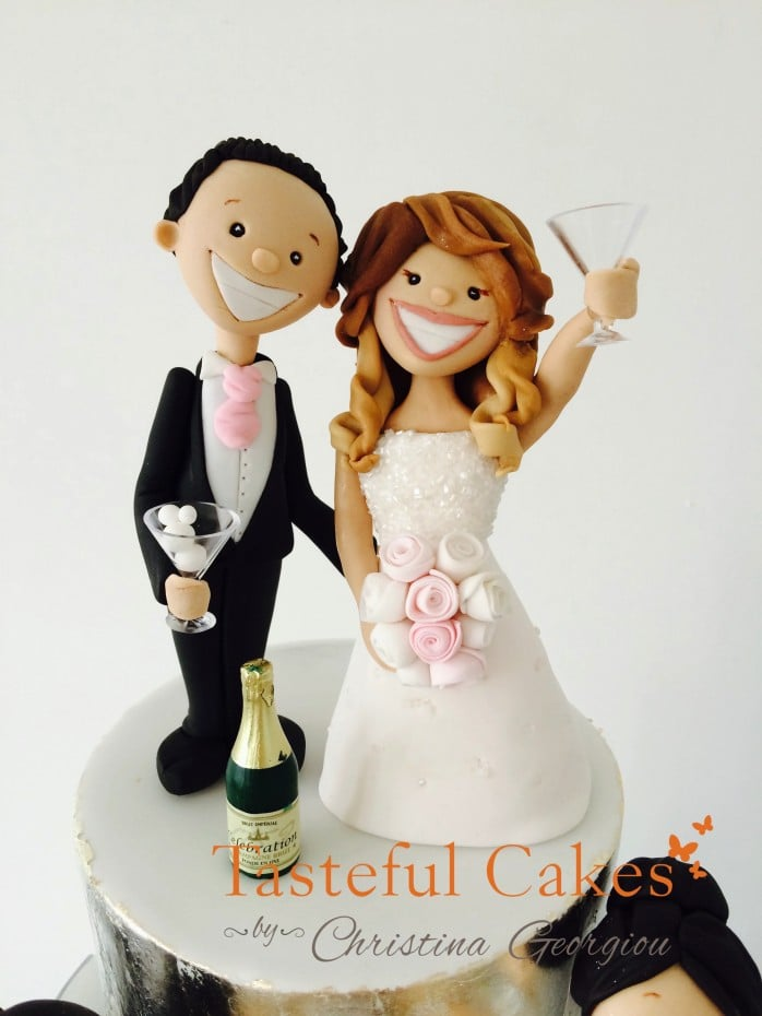 drunk bride and groom wedding cake cakes by georgiou themed 13759