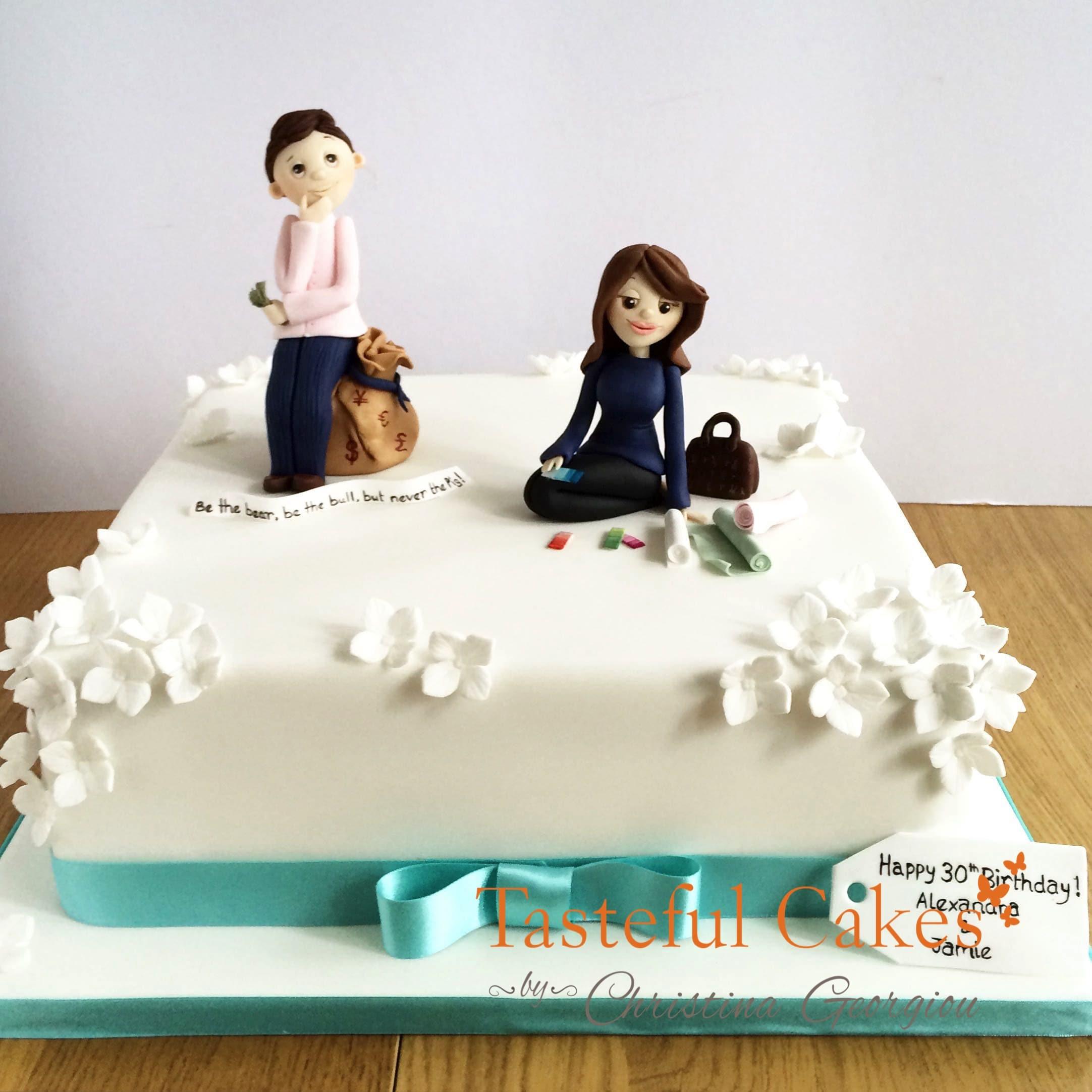 Tasteful Cakes By Christina Georgiou 30th Birthday Cake With