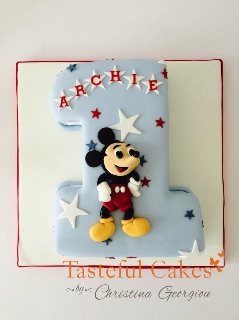 Number one, Micky mouse cake