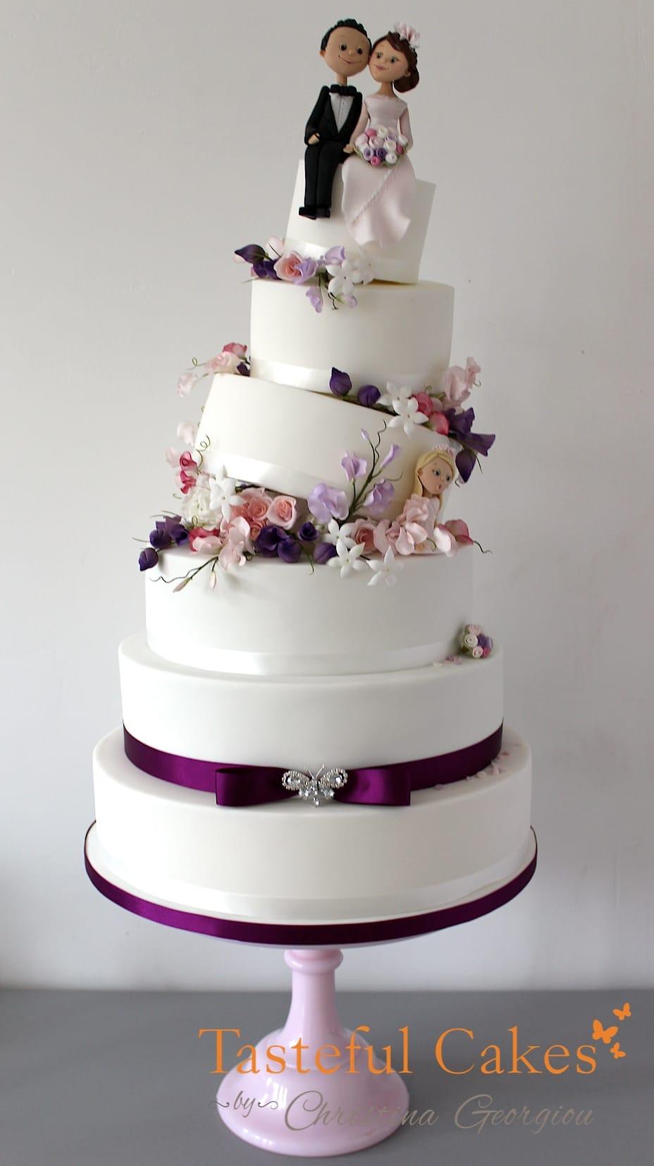 Topsy Turvy Wedding Cake Topper - 5000+ Simple Wedding Cakes