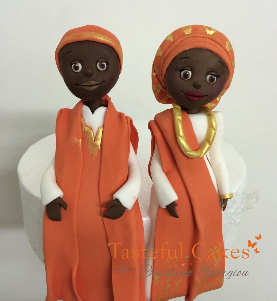 African Bride and Groom Cake Topper