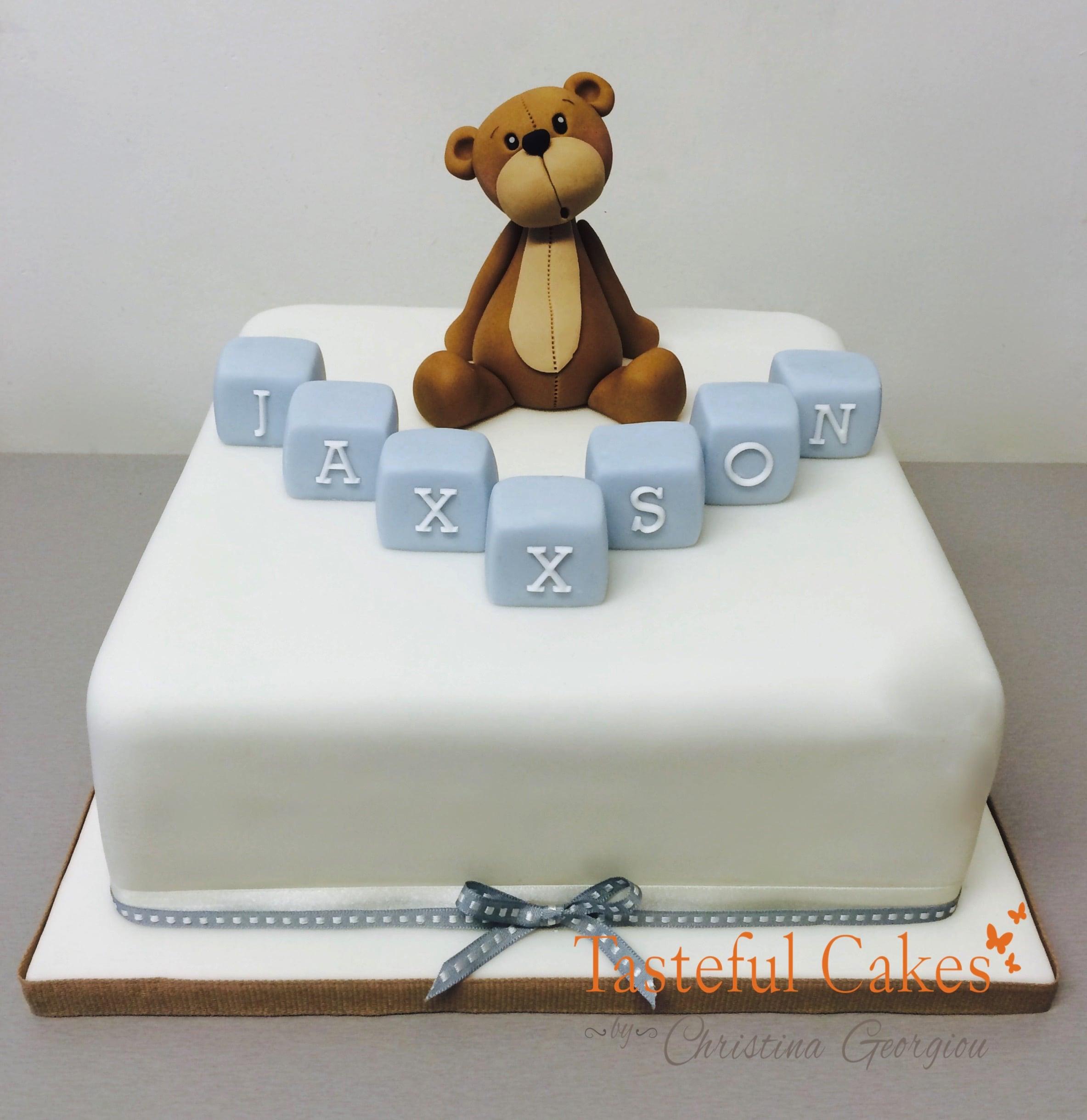Tasteful Cakes By Christina Georgiou Baby Boy Christening Cake