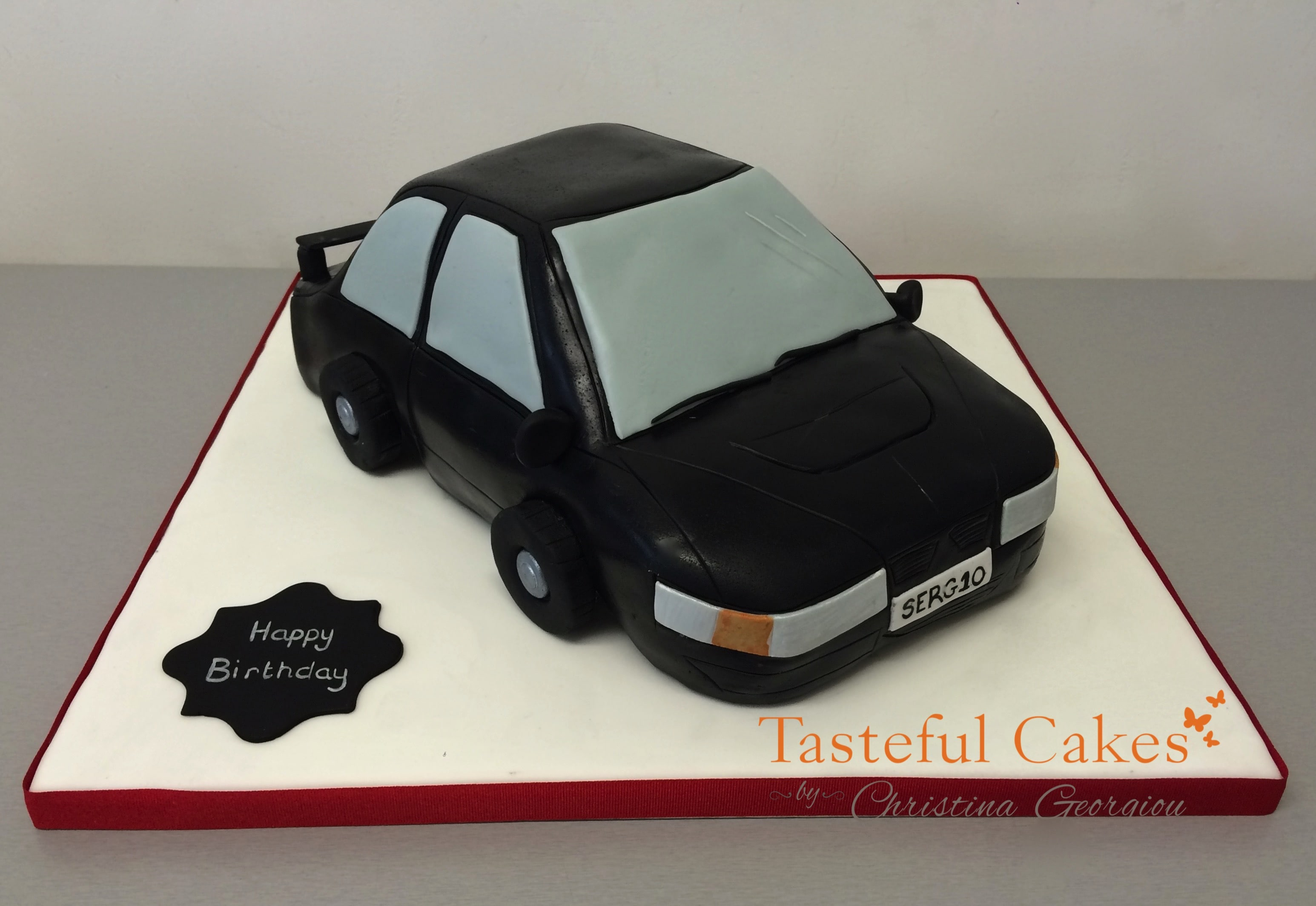 Tasteful Cakes By Christina Georgiou Black 3D Car Birthday Cake