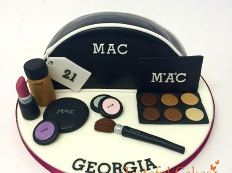Fun, Novelty Make-up bag cake, with Mac make-up.