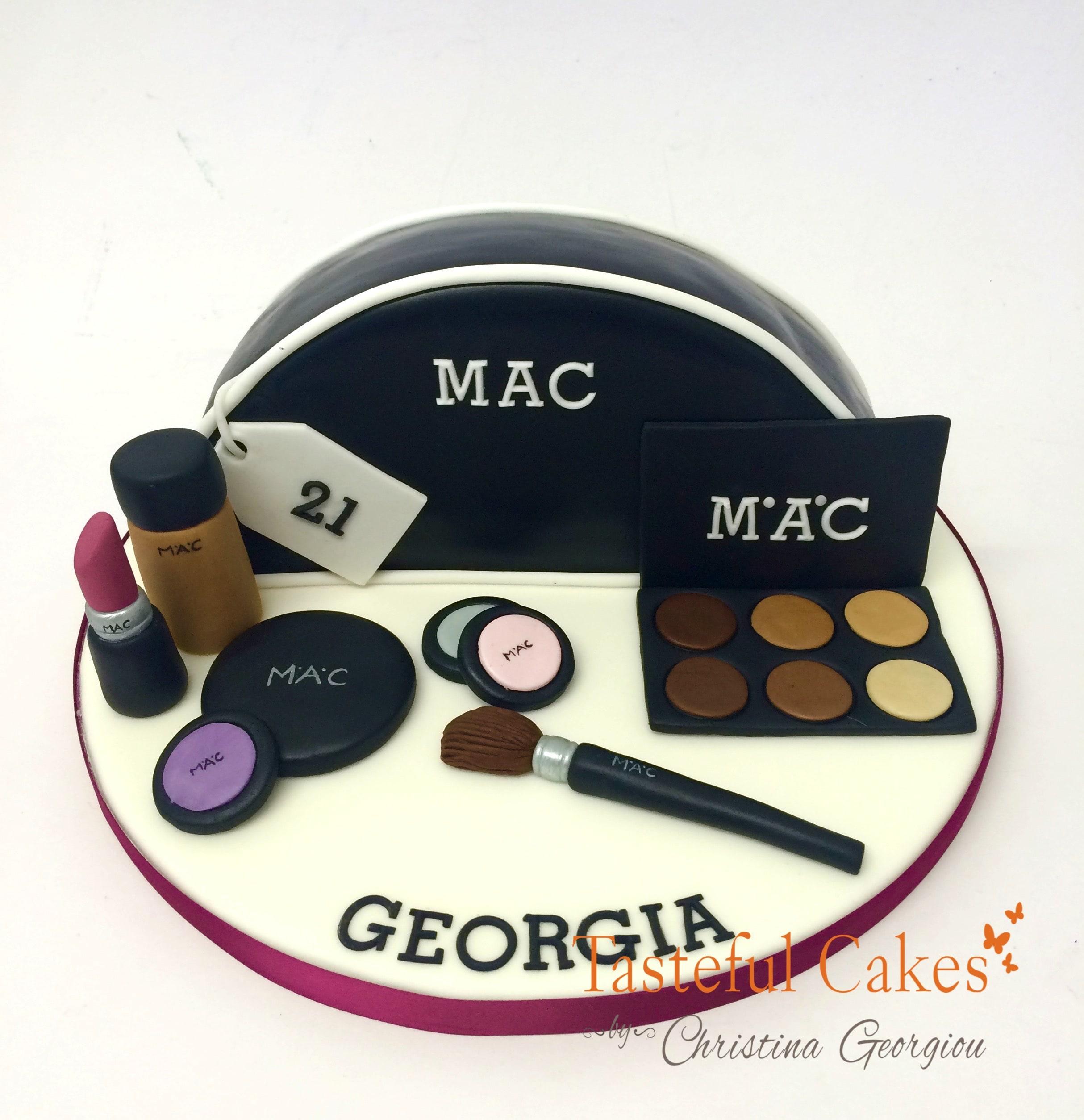 Mac Make-up Cake. This Mac Makeup birthday ...