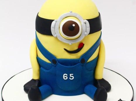 Cute 3D Minion Cake