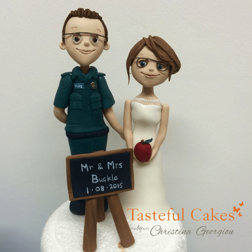 Paramedic and Teacher Bride & Groom Topper