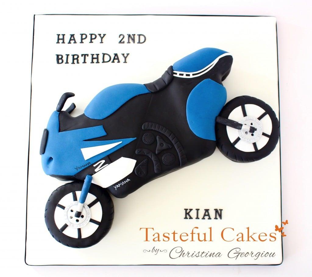 2D Motor Bike Cake