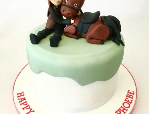 13th Birthday Cake – Horse Fondant Topper