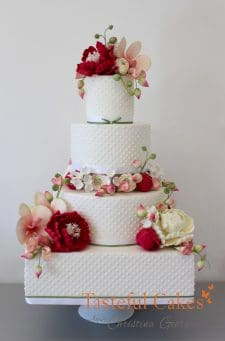 Fresh Floral Wedding Cake copy