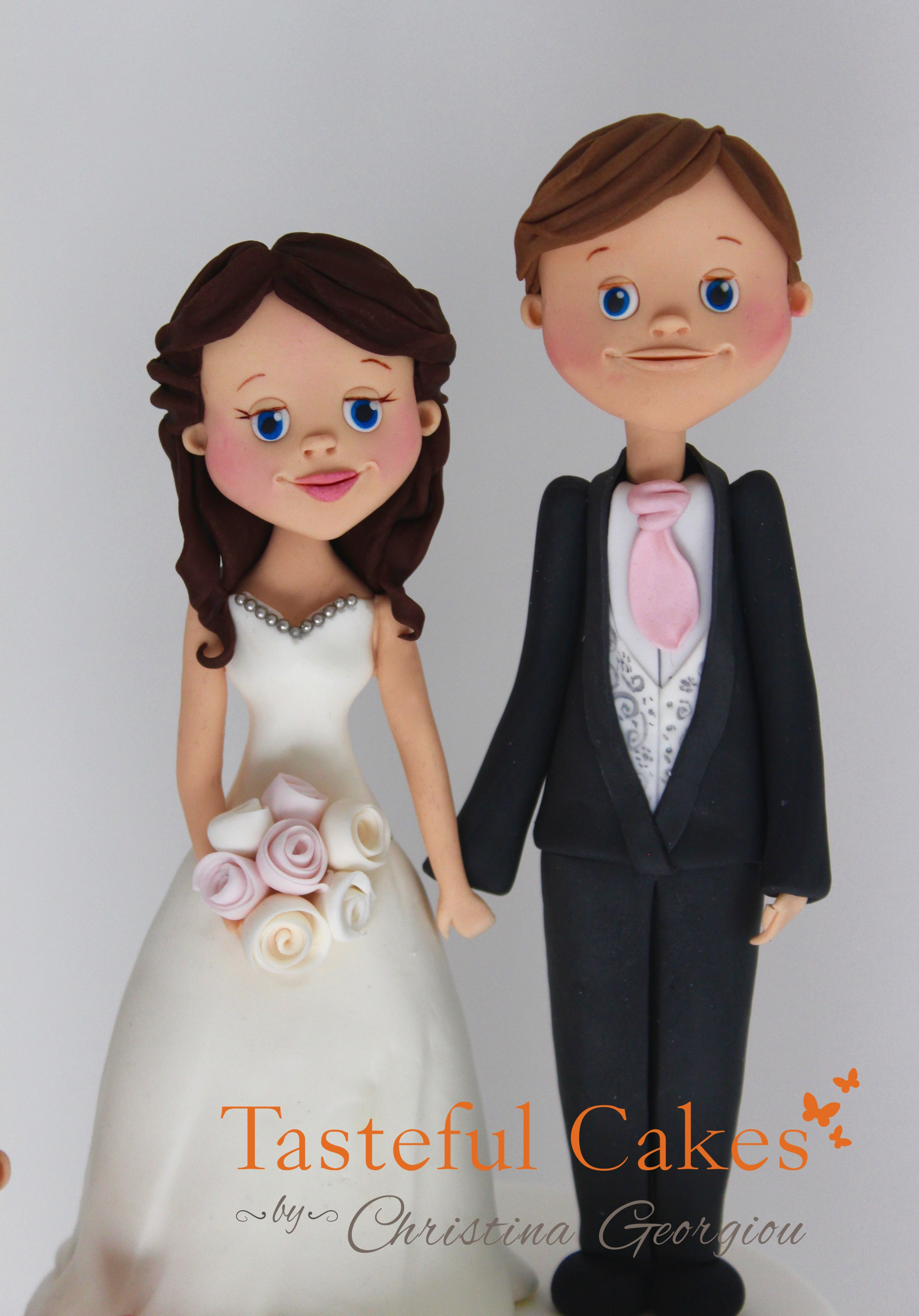Cake Toppers Uk Bride And Groom : Tasteful Cakes By Christina Georgiou Bespoke Bride ...