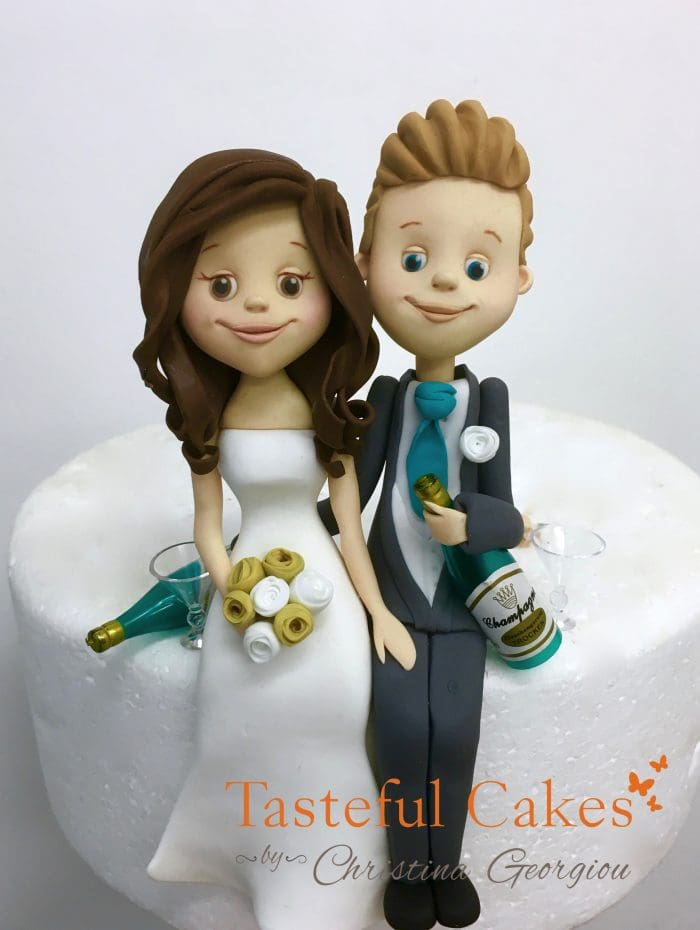 drunk bride and groom wedding cake cakes by georgiou handmade 13759