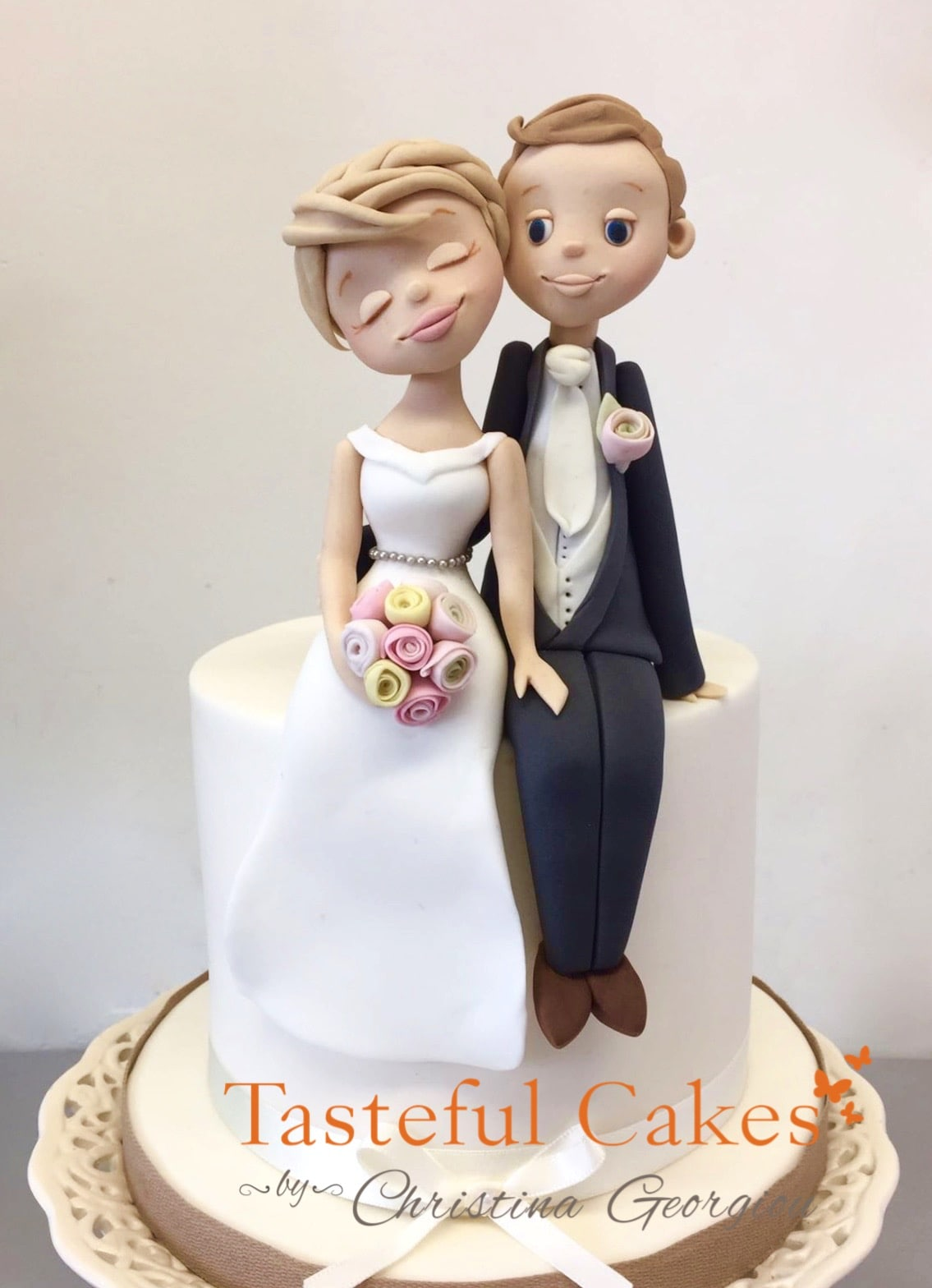 Tasteful Cakes By Christina Georgiou | Bespoke Bride & Groom Wedding ...