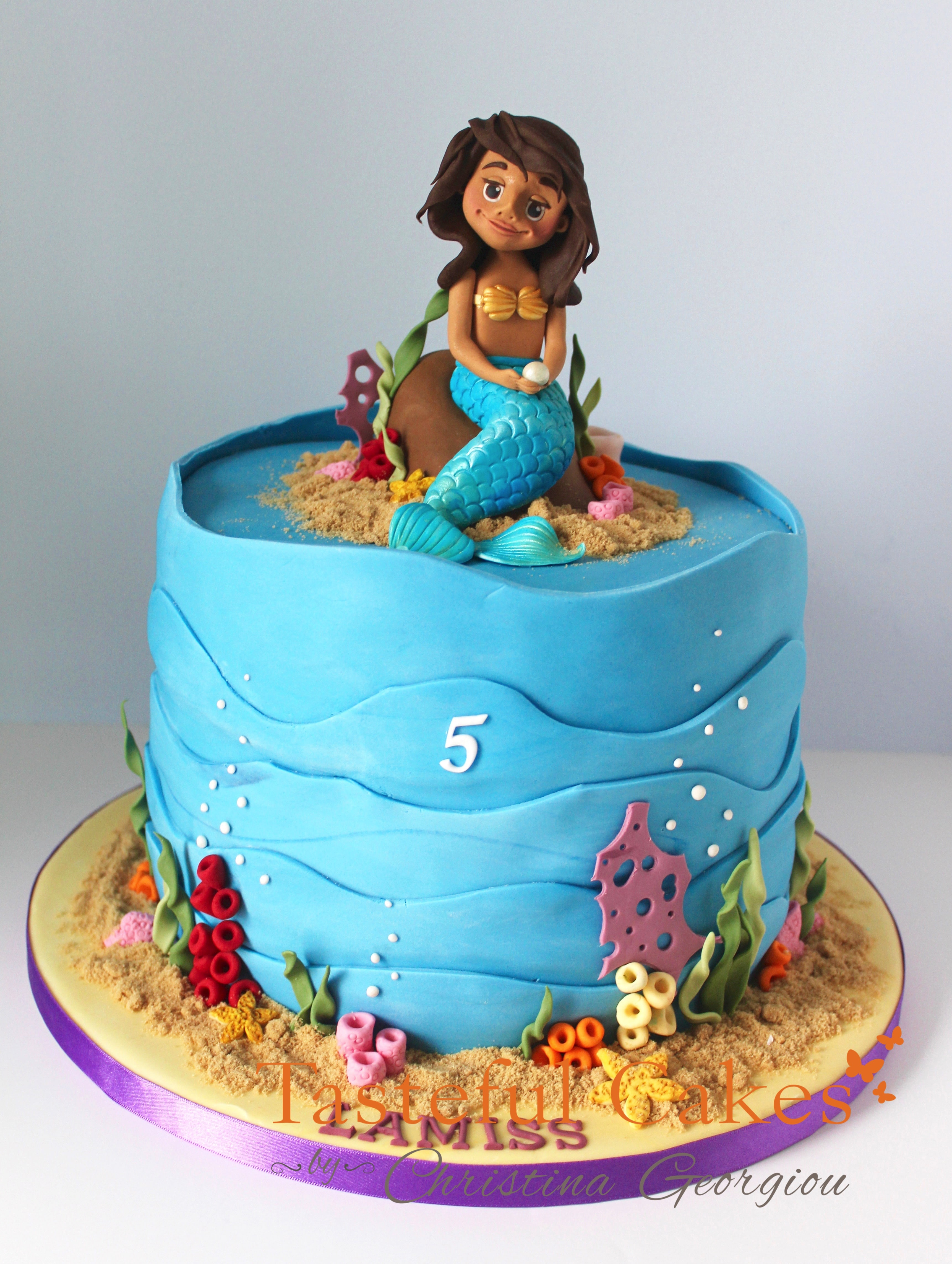 Tasteful Cakes By Christina Georgiou A Mermaid Birthday Cake