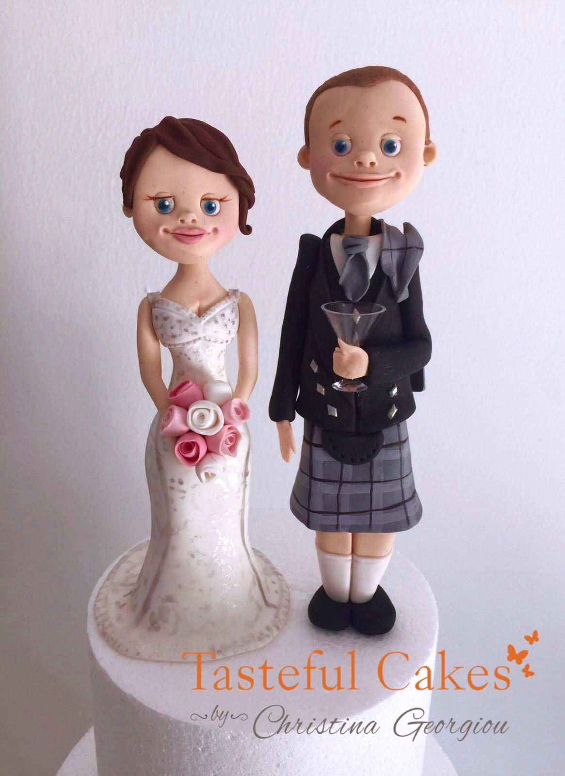 Scottish Themed Wedding Cake Toppers