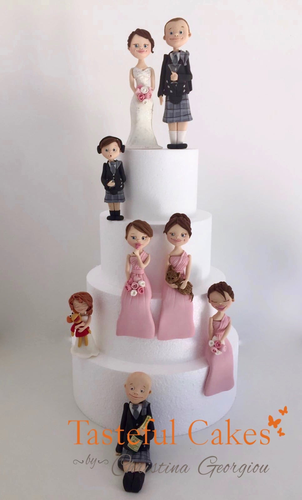 Scottish Bride And Groom Wedding Cake Toppers