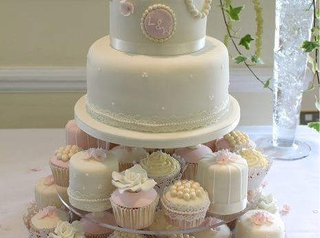 Tier Pink Wedding Cakes