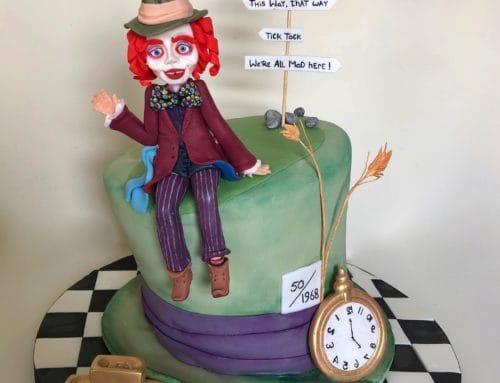 Wacky Alice in Wonderland/Mad Hatter Birthday Cake!