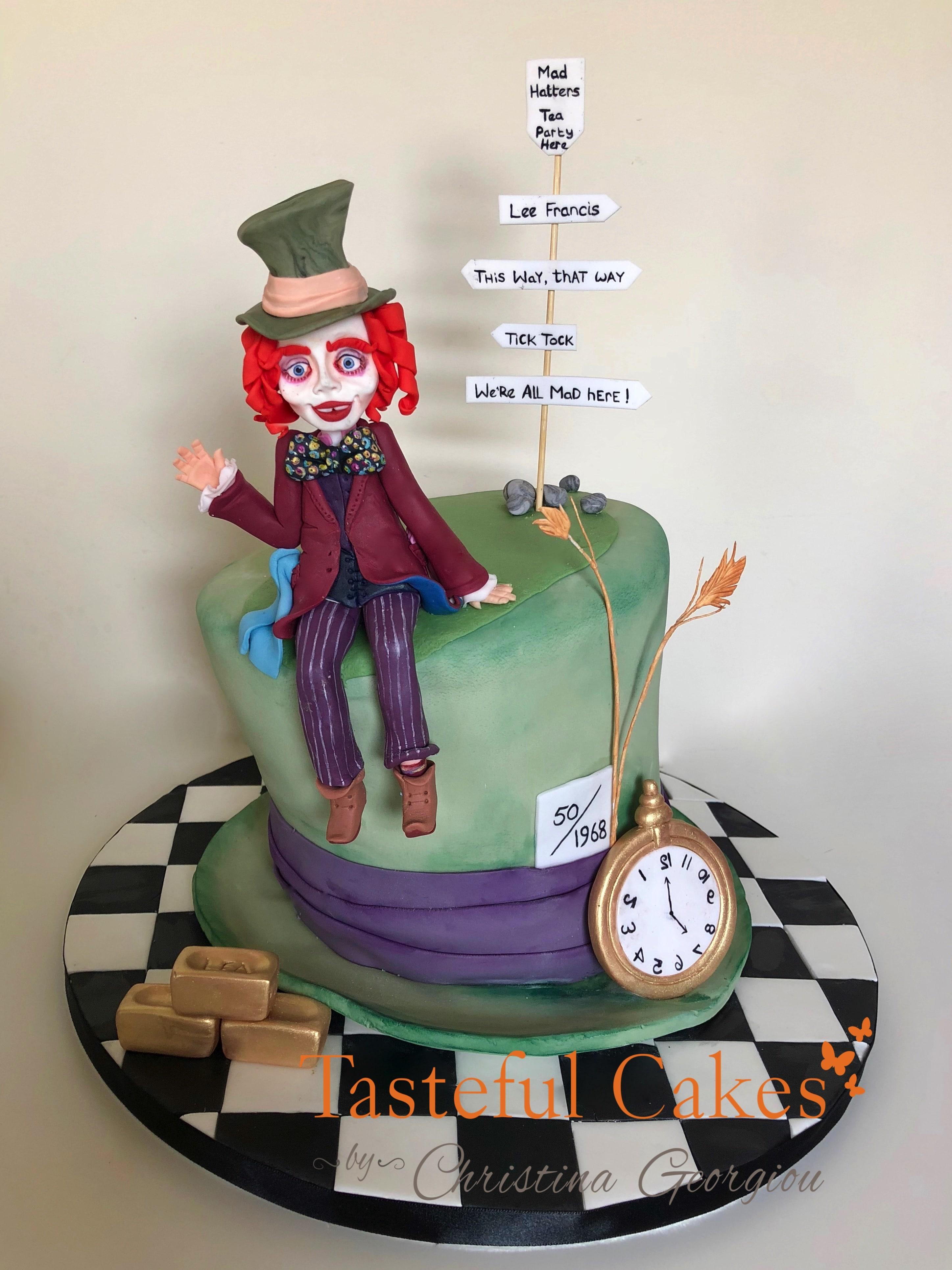 Tasteful Cakes By Christina Georgiou Alice In Wonderland