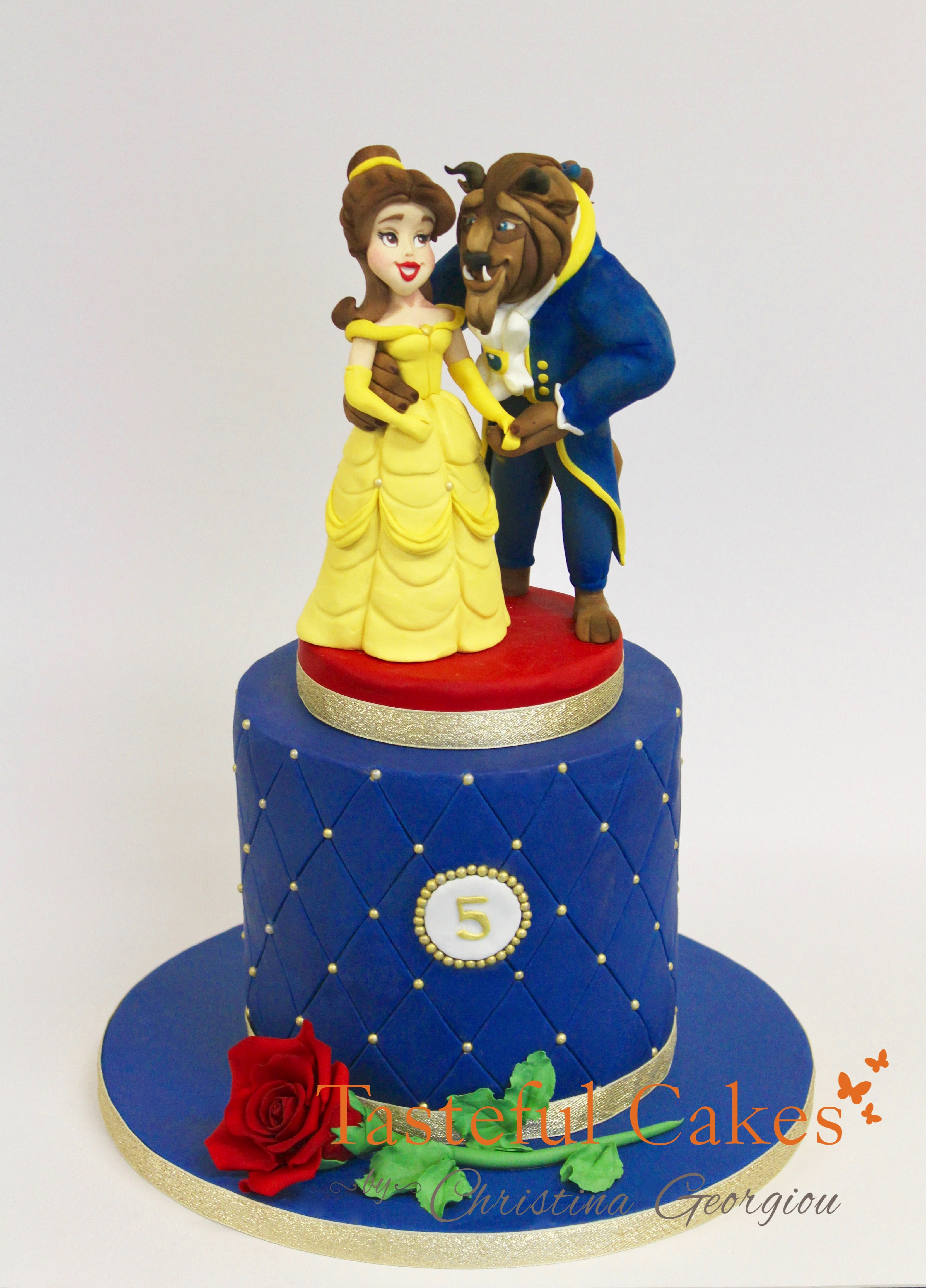 Magnificent Beauty And The Beast Birthday Cake Tasteful Cakes By Christina Funny Birthday Cards Online Elaedamsfinfo