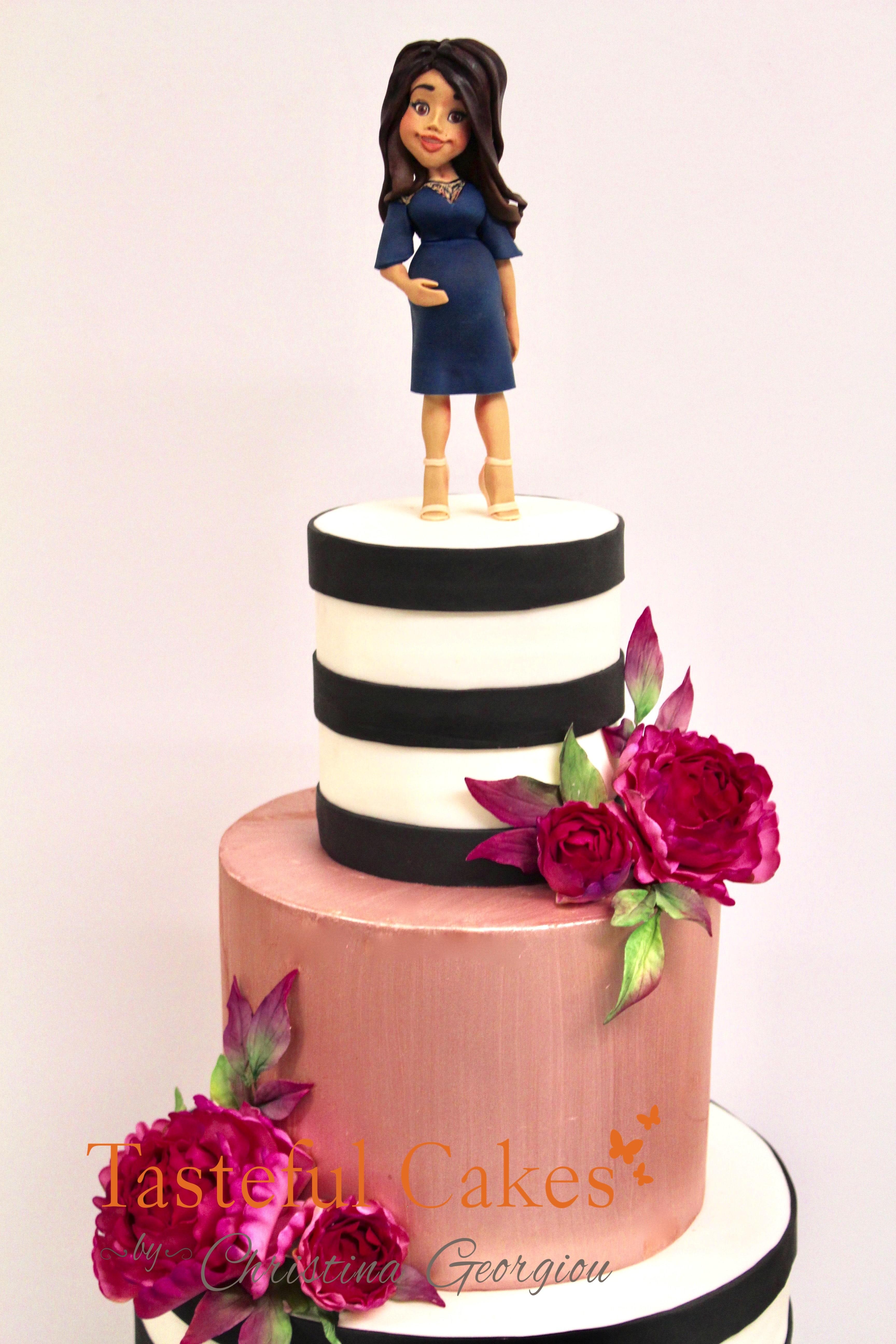 Tasteful Cakes By Christina Georgiou   Rose Gold 40th Birthday Cake