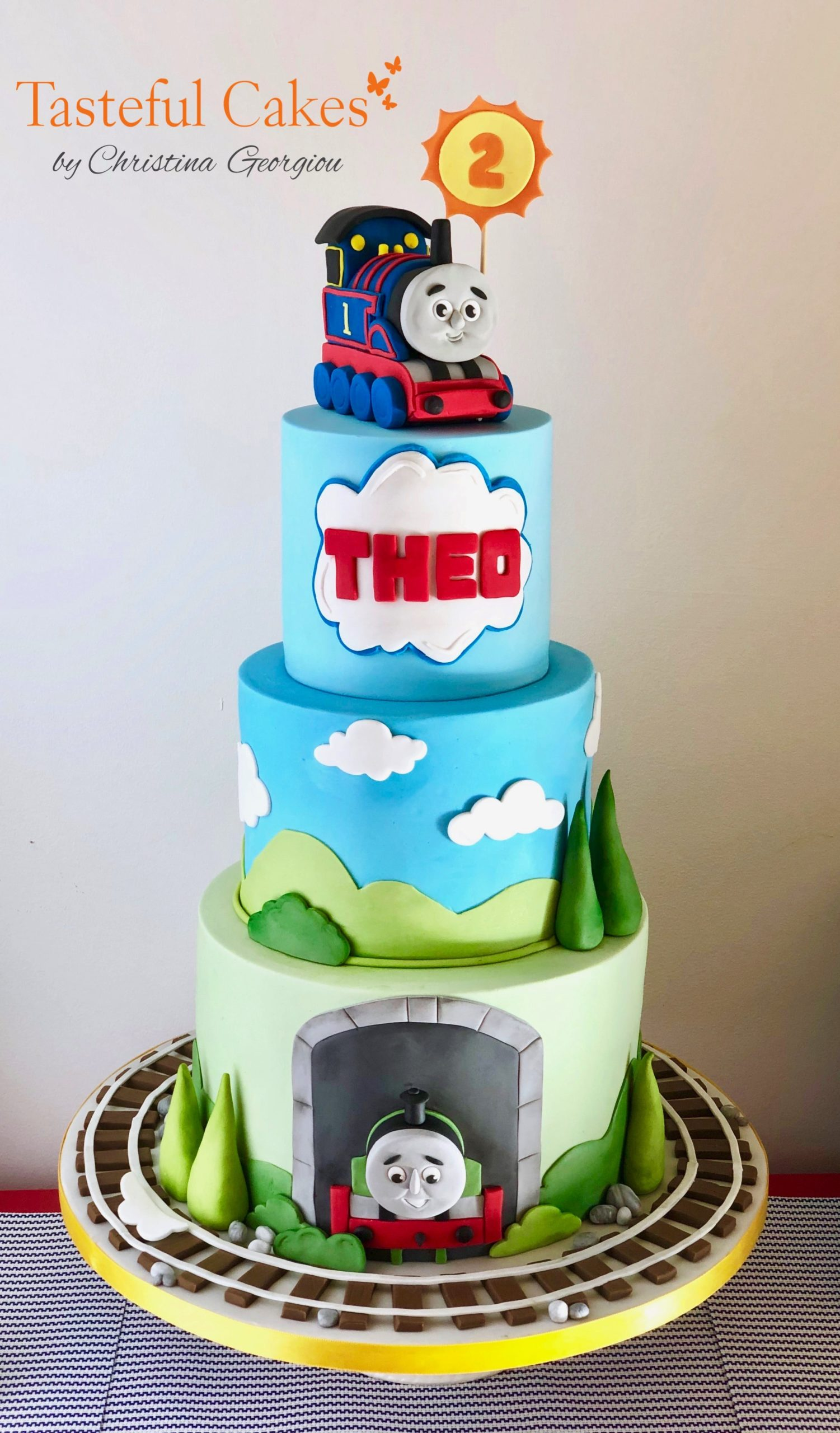 Astonishing Thomas The Tank Engine Birthday Cake Tasteful Cakes By Funny Birthday Cards Online Overcheapnameinfo