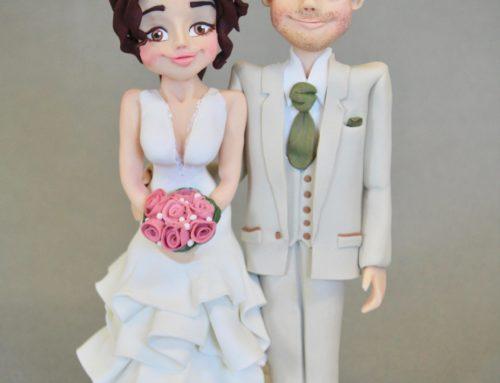 Personalised Standing Bride & Groom Topper