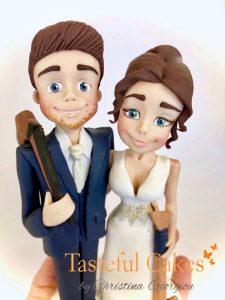 Traditonal Bride & Groom With Hockey Sticks Close up 2 2